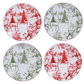 Certified International Certified International Winter Field Notes Toile Dessert Plate 9 inch Assorted CLOSEOUT