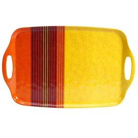 Certified International Certified International Sedona Melamine Rectangular Tray with Handles 19x12 inch