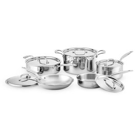 Heritage Steel/Hammer Stahl American Clad Core Cookware Stainless Steel 10 pc Set