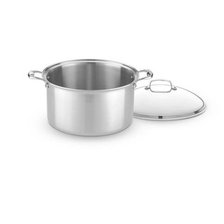 Heritage Steel/Hammer Stahl Heritage Steel Stock Pot with Cover 12 Qt