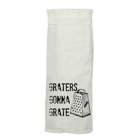 Twisted Wares Twisted Wares Hang Tight Flour Sack Towel Graters Gonna Grate