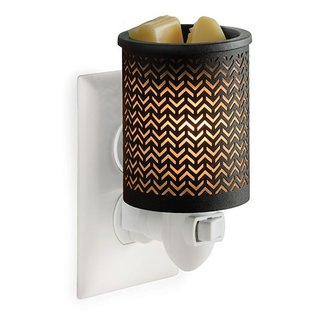 Candle Warmers, Etc. Candle Warmers Metal Pluggable Fragrance Warmer Chevron