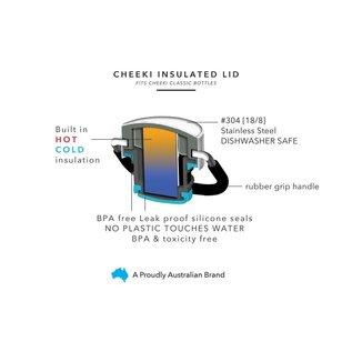 Cheeki USA Cheeki Classic Insulated Bottle Orange + Grey 20 oz CLOSEOUT/ NO RETURNS