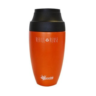 Cheeki USA Cheeki Coffee Insulated Travel Mug Orange 12 oz
