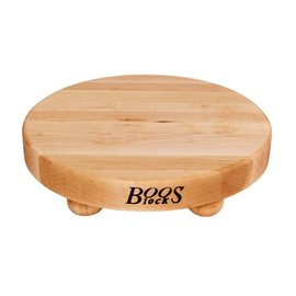 Boos Blocks(John Boos & Co.) Boos Block Cutting Board Round w Bun Feet Maple 12 x 1.25 inch