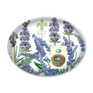 Michel Design Works Michel Design Works Glass Soap Dish Lavender Rosemary