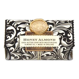 Michel Design Works Michel Design Works Bath Soap Bar Honey Almond Black Florentine