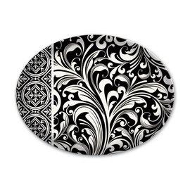 Michel Design Works Michel Design Works Glass Soap Dish Black Florentine