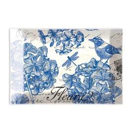Michel Design Works Michel Design Works Rectangular Glass Soap Dish Indigo Cotton
