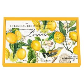 Michel Design Works Michel Design Works Vanity Decoupage Wooden Tray Lemon Basil 12.25x7.75 inch