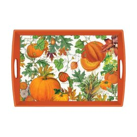 Michel Design Works Michel Design Works Decoupage Wooden Tray  20x13.6 inch Pumpkin Melody CLOSEOUT
