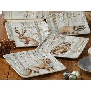 Certified International Certified International A Woodland Walk Dessert Plate Assorted 8.5 inch