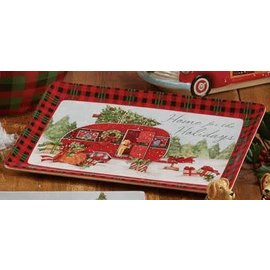 Certified International Certified International Home For Christmas Rectangular Platter 13x8 inch CLOSEOUT