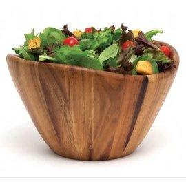 Lipper Lipper Acacia Wavy Rim Bowl 12 x 7 inch