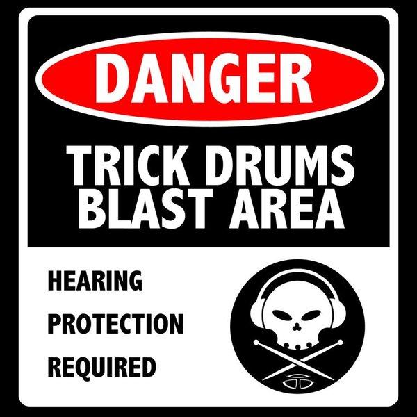 Trick Drums Blast Area Sticker