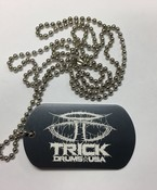 Trick Drums Doom Logo Dog Tag w/ Chain