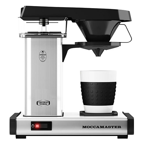 TECHNIVORM MOCCAMASTER CUP-ONE 1 CUP COFFEE MAKER SILVER