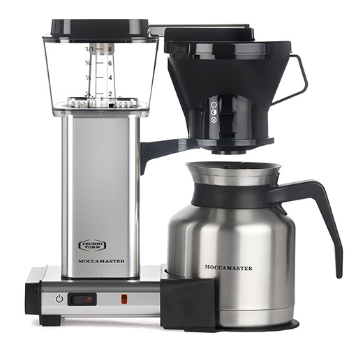 TECHNIVORM MOCCAMASTER KBTS 8 CUP COFFEE MAKER SILVER