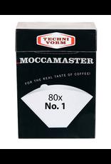 TECHNIVORM MOCCAMASTER NUMBER 1 FILTERS PACK OF 80