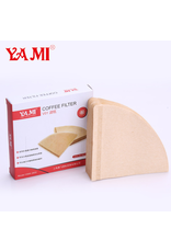 YAMI COFFEE FILTER 1-2 CUP (4O UNBLEACHED NATURAL FILTERS)