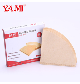 YAMI COFFEE FILTER 2 - 4 CUP (4O UNBLEACHED NATURAL FILTERS)