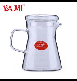 YAMI COFFEE POUROVER SERVER HEAT RESISTANT GLASS 450 ML