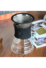 YAMI POUR OVER COFFEE DRIPPER AND DECANTER 500 ML (PERMANENT STAINLESS STEEL BASKET)