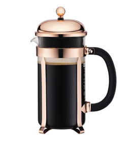 BODUM CHAMBORD COPPER 8 CUP FRENCH PRESS 1.0 L