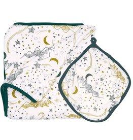 Nest Bamboo Nesting Blanket Stars White