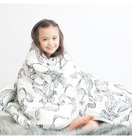 Nest Cozy Blanket Fish White