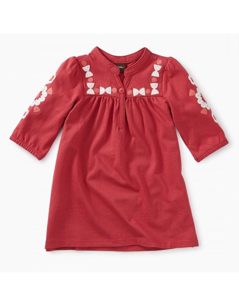 Tea Collection Embroidered Baby Henley Dress