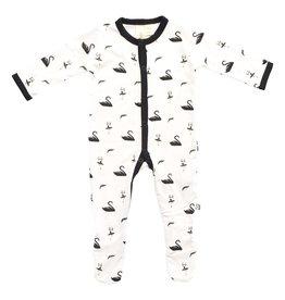 Kyte Baby Swan Printed Footie
