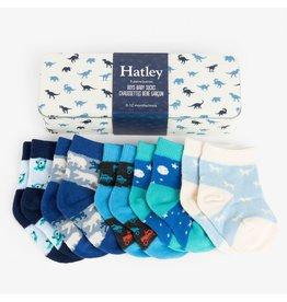 Hatley Tiny Dinos Baby Crew Socks Gift Tin