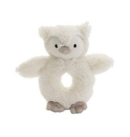 Jellycat Bashful Owl Ring Rattle
