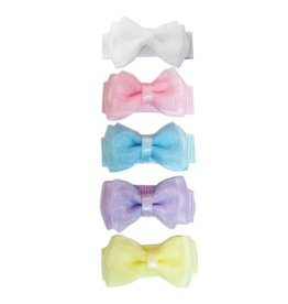 Bow Clip 5pk - Perfect Pastels