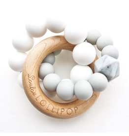 Loulou Lollipop Silicone/Wood Trinity Rattle