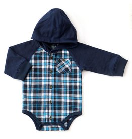 Kapital K Starlight Plaid Hooded Onesie