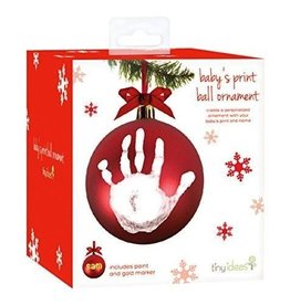 Babyprints Red Ball Ornament