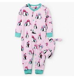 Hatley Coverall & Cap - Winter Penguins