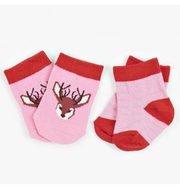 Hatley Infant Socks - Pretty Fawn, Nb-12m