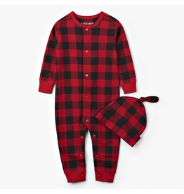 Hatley Infant Coverall & Cap - Buffalo Plaid
