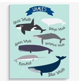 "Lucy Darling I Love Whales! Art Print 8""x10"""