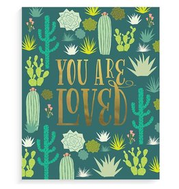 "Lucy Darling Cactus Garden Gold Art Print 8""x10"""