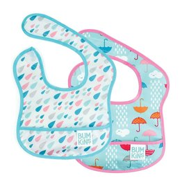Starter Bib 2pk - Raindrops, Umbrella