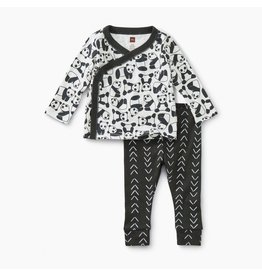 Tea Collection Panda Pups Baby Outfit
