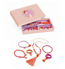 Djeco Pompoms & Ribbons Jewelry Set
