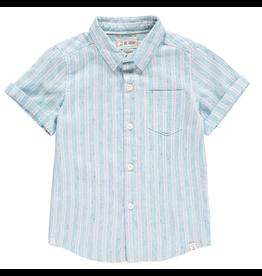 Striped Woven Linen Shirt