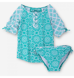 Hatley Hatley Tiled Mandala Rash Guard Set