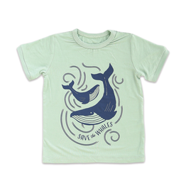 Silkberry Toddler Whales Bamboo Tee