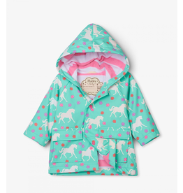 Hatley Colour Changing Horses Baby Raincoat